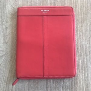 Coach leather tablet iPad reader case